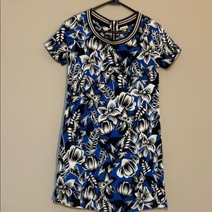 Hollister Zip Up Short Sleeve Floral Dress